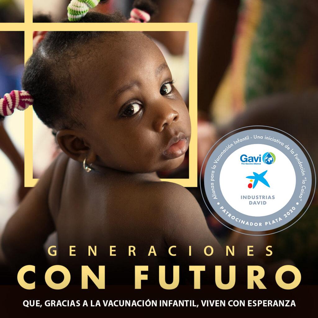 ID David, forma parte de la Alianza para la Vacunación infantil junto a Fundación La Caixa y Gavi.